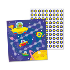 Mini incentive chart, out of this world, 30/pk, multi-color, sold as 1 package, 30 sheet per package