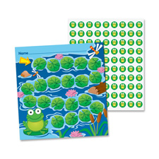 Mini incentive chart, frog, 660 pieces/pk, multi-color, sold as 1 package, 30 sheet per package