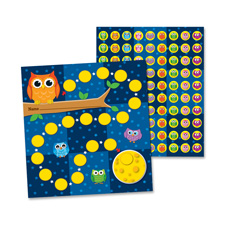 Mini incentive chart, owls, 30/pk, multi-color, sold as 1 package, 30 sheet per package