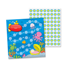 Mini incentive chart, sea life, 30/pk, multi-color, sold as 1 package, 30 sheet per package