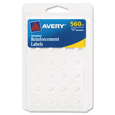 "Permanent reinforcment labels, 1/4"" dia, 560/pk, white, sold as 1 package"
