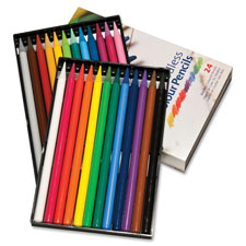 Woodless colored pencils, 24/pk, assorted, sold as 1 set