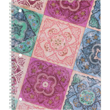 "Pretty please notebook, colg rld, 8""x10-1/2"", 80shts, multi, sold as 1 each"