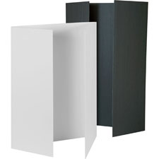 "Tri-fold presentation boards, 48""x36"", 12/ct, black, sold as 1 carton"