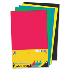 "Posterboard, rec, 14""x22"", 5shts/pk, white, sold as 1 package, 10 sheet per package"