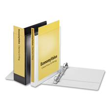 "D-ring view binder, 4"" capacity, white, sold as 1 each"