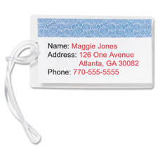 "Laminating pouch,luggage tag,2-1/2""x4-1/4"",5 mil,100/bx,cl, sold as 1 box, 100 each per box"