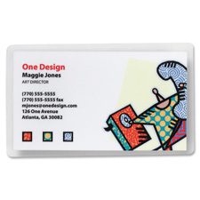 """Laminating pouch,business card,2-3/16""""x3-11/16"""",100/bx,cl, sold as 1 box"""
