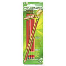 Erasable colored pencils, 4/cd, red, sold as 1 package, 10 each per package