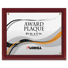 """Award-a-plaque, holds 8-1/2x11"""", mahogany, sold as 1 each"""