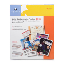 """Laminating pouch,letter,9""""x11-1/2"""",3 mil,50/bx,cl, sold as 1 box, 100 each per box"""