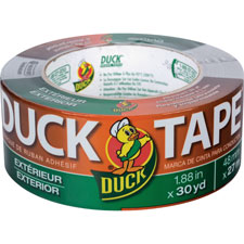 "Outdoor duct tape, waterproof, 30yds, 1-4/5"", gray, sold as 1 roll"