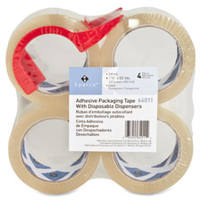 "Packing tape,w/ dispenser,3"" core,3.0mil,2""x55 yards,4/pk,cl, sold as 1 package, 6 roll per package"
