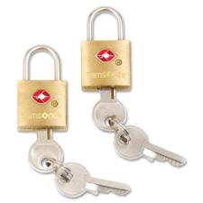 """Key locks, 2/pk, 1/2""""x1""""x1-1/2"""", brass, sold as 1 package"""