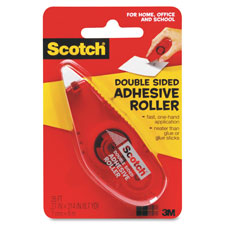 "Double sided adhesive roller, 27""x26', clear, sold as 1 each"