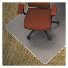 "Chair mat, medium pile, rectangular, 46""x60"", cl, sold as 1 each"