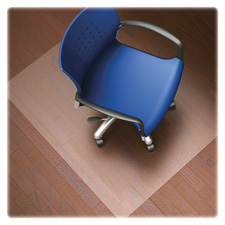 "Hard floor chairmat, rectangular,36""x48"", clear, sold as 1 each"