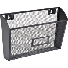 "Single wall pocket, ltr, 12-5/8""x4-3/4""x6-5/8"", black mesh, sold as 1 each"