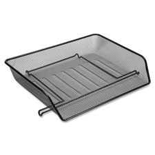 "Letter tray, side load, 14-1/4""x10-3/4""x3"", black mesh, sold as 1 set"
