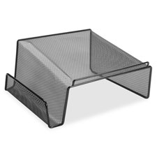 "Phone stand, steel, 11-1/8""x10-1/8""x5-1/4"", mesh/black, sold as 1 each"