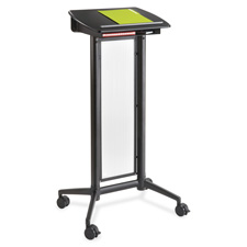 "Impromptu lectern, 26-1/2""x18-3/4""x46-1/2"", black, sold as 1 each"
