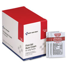 First aid burn ointment, singe use packets, 50/bx, red/white, sold as 1 box, 12 each per box