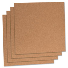 "Cork panels, 12""x12"", 4/pk, natural, sold as 1 package"
