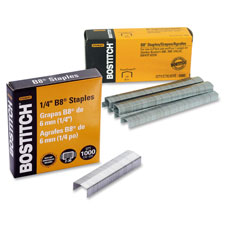 "B8 staples,chisel point,use in b8 line,1/2""w,1/4""l, sold as 1 box"
