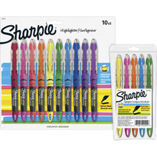 Liquid highlighters, carded, narrow pt, 5 color/st, assorted, sold as 1 set, 12 each per set
