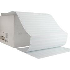 "Computer paper,20 lb.,1part,14-7/8""x11"",2400/ct,1/2"" gn bar, sold as 1 carton, 2400 sheet per carton"