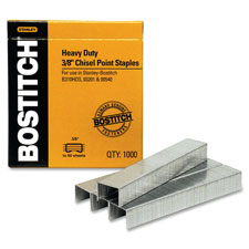"Heavy-duty staples,1/2""w, 3/8""l,100/strip, 1000/bx, sold as 1 box, 1000 each per box"