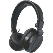"Stereo headphones w/volume control, 71"" cord, black, sold as 1 each"