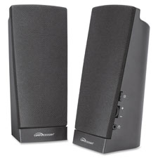 Flat panel speaker set, led, 1watt, black, sold as 1 set