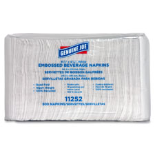 "Beverage napkins, quad fold, 9-1/2""x9-1/4"", 4000/ct, we, sold as 1 carton, 50 each per carton"