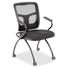 """Guest chair, 24-2/5""""wx24""""dx37""""h, 2/ct, black, sold as 1 carton"""