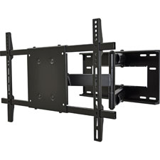 Large double articulated mount, 150lb capacity, black, sold as 1 each