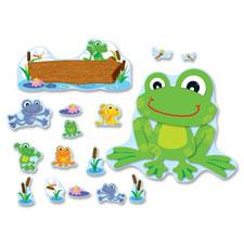 """Funky frog bulletin board set, 4""""x6"""", multi, sold as 1 set"""