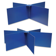 "Round table privacy baord, 48""x14"", blue, sold as 1 each, 6 each per each"