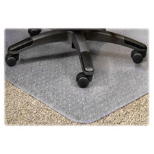 "Chairmat, med. pile, 36""x48"", standard lip 19""x10"", clear, sold as 1 each"