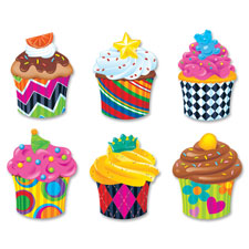 "Cupcakes classic accents val pak, 36pcs, 5-1/2"", multi, sold as 1 set, 36 each per set"