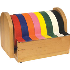 """Wooden tape stand, 6-1/2""""x6-1/2"""",10"""", brown, sold as 1 each"""