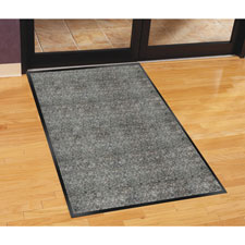 Indoor mat, moisture absorbent, vinyl back, 3'x5', charcoal, sold as 1 each, 8 package per each