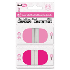 "Pop-up index tabs,bca,writable/removable,1.5"",52/pk,ast pink, sold as 1 package, 44 each per package"
