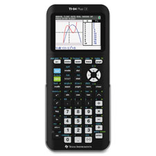 Graphing calculator, color, rechargeable, backlit, black, sold as 1 each