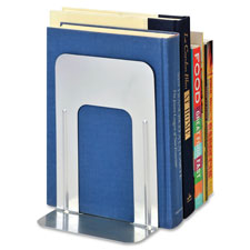 "Deluxe bookends, 5-15/16""x8-3/16""x9"", 6/pk, silver, sold as 1 pair"