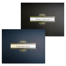 "Certificate holder w/window, 8-1/2""x11"", black/gold, sold as 1 package, 5 each per package"