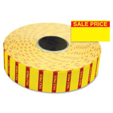 """Sale price labels, f/1131, 25/32""""x7/16"""", 3/rl, yellow, sold as 1 package"""