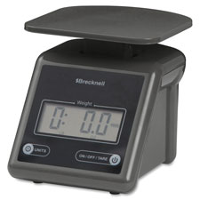 "Electronic postal scale,7 lb cap.,5-3/5""x6-4/5""x5-1/2"",gray, sold as 1 each"