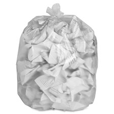 "Trash bag liners,24""x31"",8 mic,high density,1000/ct,clear, sold as 1 carton, 1000 each per carton"