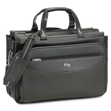 "Triple gusset laptop briefacase, 17""x8""x12"", black, sold as 1 each"